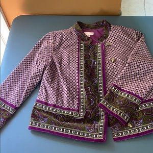 Purple pattern jacket
